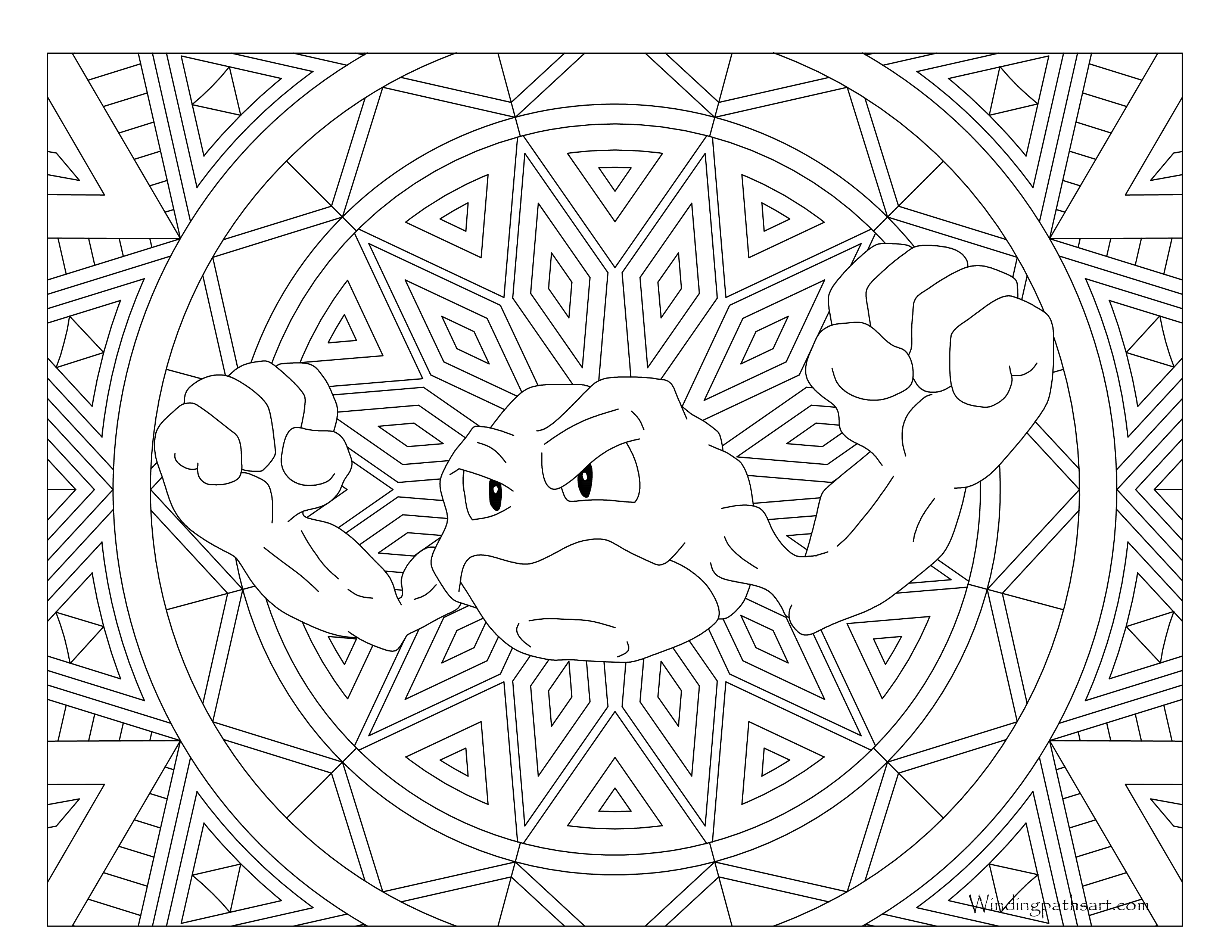 87 Pokemon Coloring Pages Geodude